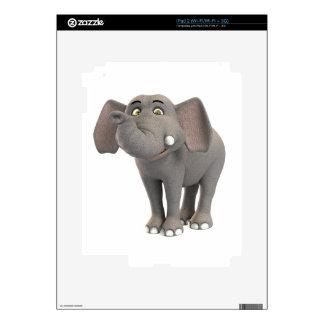 Cartoon Baby Elephant Smiling Skin For iPad 2