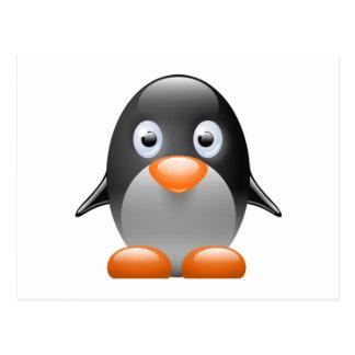 Cartoon Baby Penguin Postcard