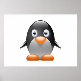 Cartoon Baby Penguin Poster