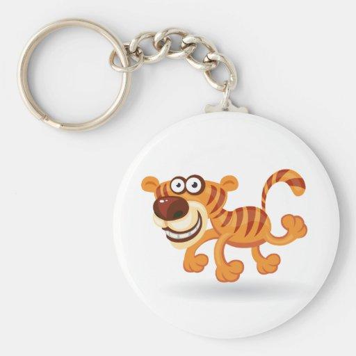 Cartoon baby tiger key chains