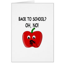 Cartoon Back To School Apple Card
