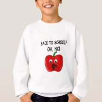 Cartoon Back To School Apple Sweatshirt