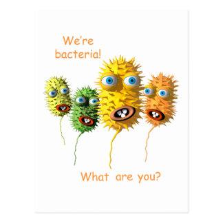 Cartoon Bacteria postcard