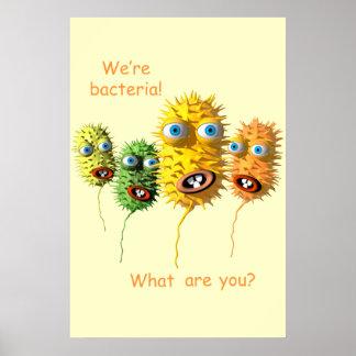 Cartoon Bacteria poster