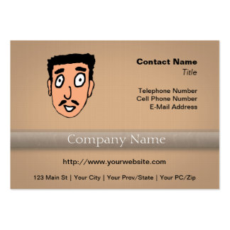 Cartoon Bad Pick up Line Slimy Moustache Guy Business Cards