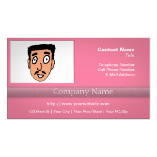 Cartoon Bad Pick up Line Slimy Moustache Guy Double-Sided Standard Business Cards (Pack Of 100)