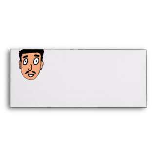 Cartoon Bad Pick up Line Slimy Moustache Guy Envelope