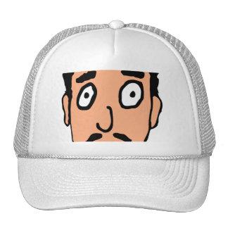 Cartoon Bad Pick up Line Slimy Moustache Guy Trucker Hat