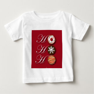 Cartoon baker Donut Christmas Cookies HoHoHo Baby T-Shirt