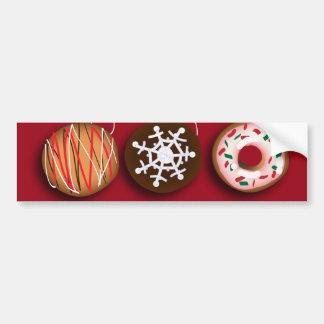 Cartoon baker Donut Christmas Cookies HoHoHo Bumper Sticker