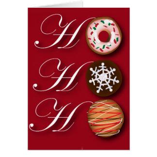 Cartoon baker Donut Christmas Cookies HoHoHo Card