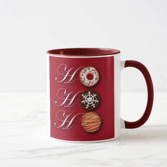 Cartoon baker Donut Christmas Cookies HoHoHo Mug