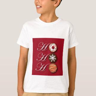 Cartoon baker Donut Christmas Cookies HoHoHo T-Shirt
