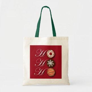 Cartoon baker Donut Christmas Cookies HoHoHo Tote Bag
