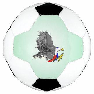 Cartoon Bald Eagle Soccer Ball