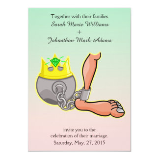 Cartoon Ball And Chain Wedding Invitation