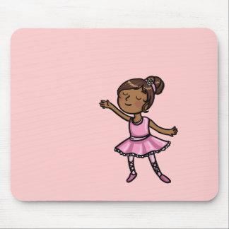 Cartoon Ballet Dancer Mouse Pad