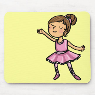 Cartoon Ballet Dancer Mousepad