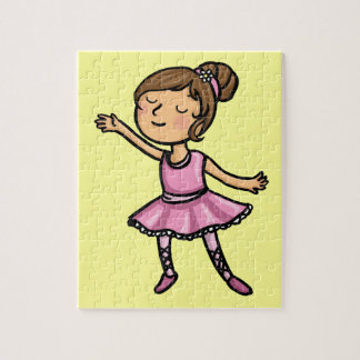 Cartoon Ballet Dancer Puzzles