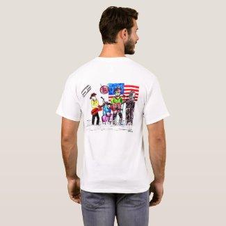 Cartoon Band Drawing T-Shirt