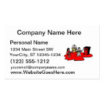 cartoon band red.png business card templates