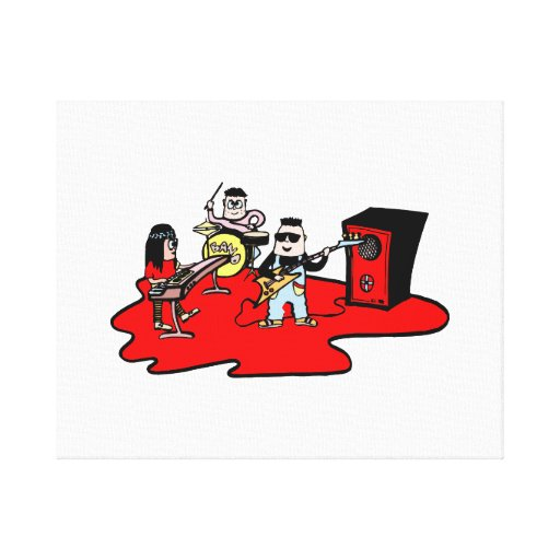 cartoon band red.png canvas print