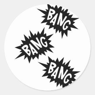 Cartoon Bang Bang Bang by Chillee Wilson Classic Round Sticker