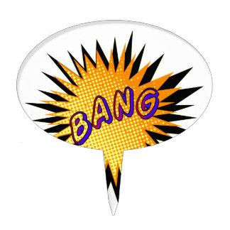Cartoon Bang Cake Topper
