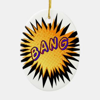 Cartoon Bang Ceramic Ornament