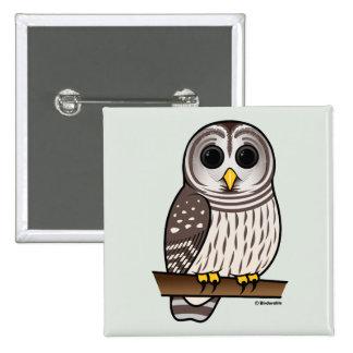 Cartoon Barred Owl Buttons