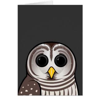 Cartoon Barred Owl Card