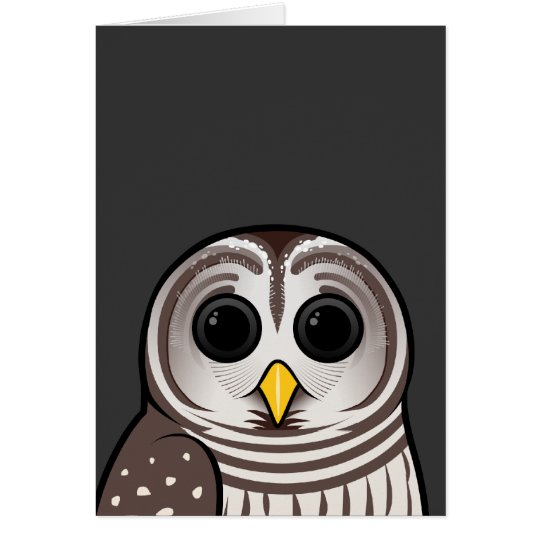 Cartoon Barred Owl Card
