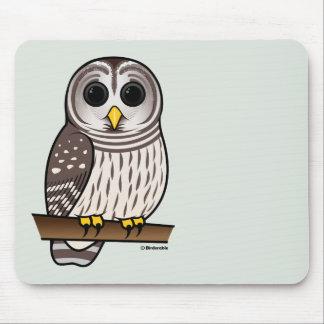Cartoon Barred Owl Mouse Pad