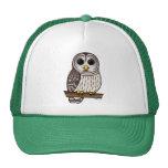 Cartoon Barred Owl Trucker Hat