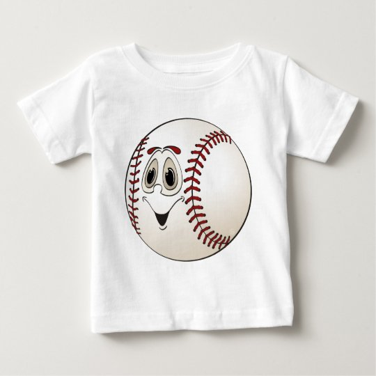Cartoon Baseball Baby T-Shirt