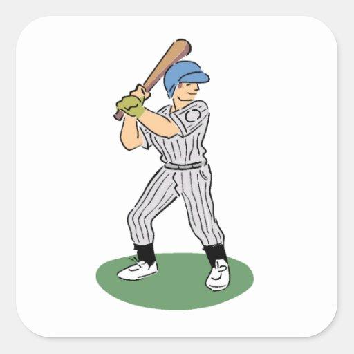 Cartoon Baseball Batter Sticker
