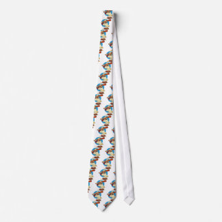Cartoon Baseball Batter Tie