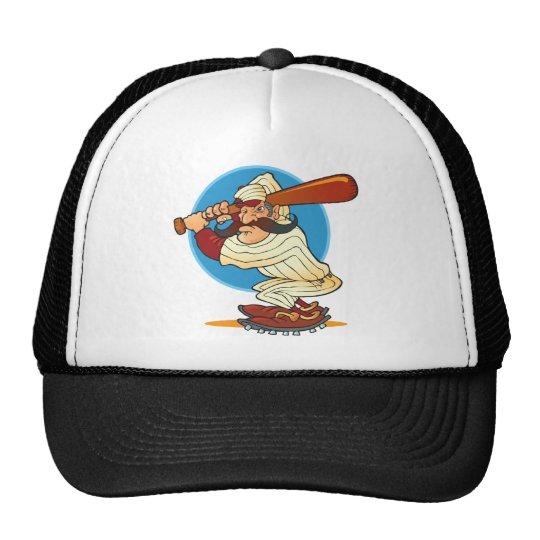 Cartoon Baseball Batter Trucker Hat