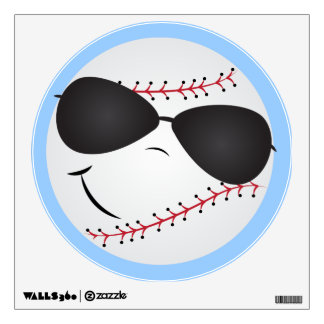 Cartoon Baseball fun sports wall decal