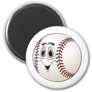Cartoon Baseball Magnet