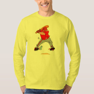 Cartoon Baseball Player at the Plate T-Shirt
