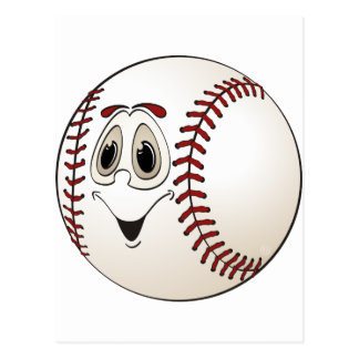 Cartoon Baseball Postcard