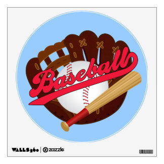 Cartoon Baseball sports wall decal
