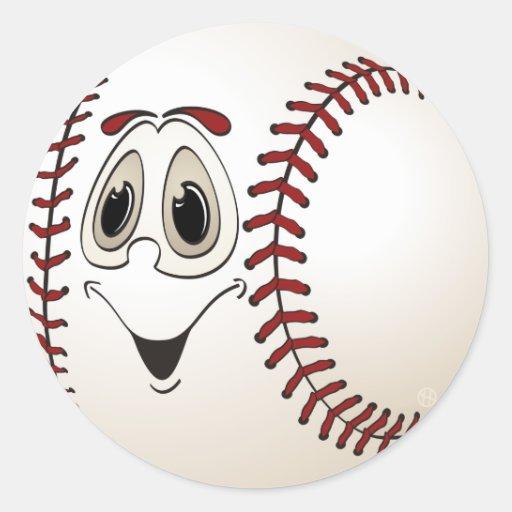 Cartoon Baseball Sticker