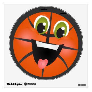 Cartoon Basketball fun sports wall decal