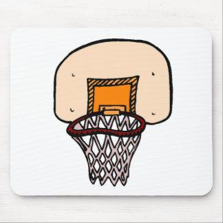 Cartoon Basketball Hoop Mouse Pad