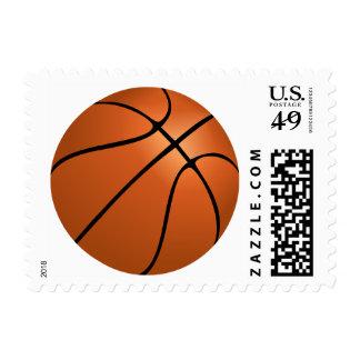 Cartoon Basketball Sports Stamp