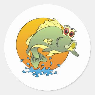Cartoon Bass Stickers