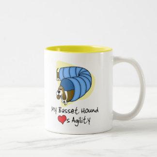 Cartoon Basset Agility Mug