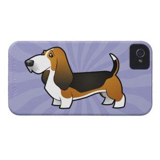Cartoon Basset Hound iPhone 4 Case-Mate Case